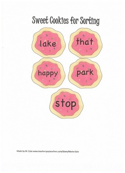 Sweet Syllable Sorting: 1 to 3 syllable words