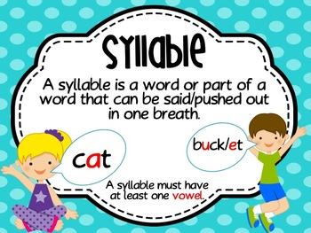 Sweet Syllable Word Work