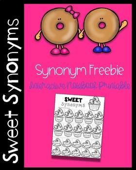 Sweet Synonym Freebie