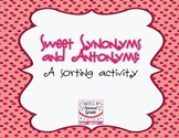 Synonym and Antonym Sort: Cupcake Themed
