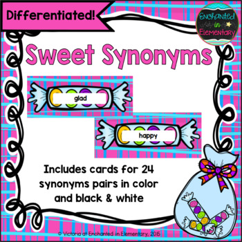 Sweet Synonyms: A Differentiated Matching Activity