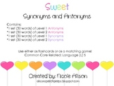 Sweet Synonyms and Antonyms Leveled