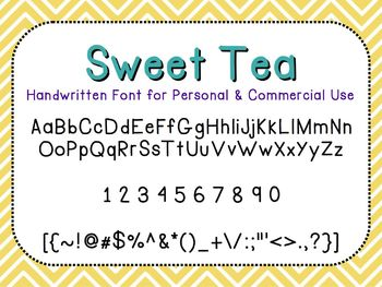 Sweet Tea - FREE Font for Personal and Commercial Use