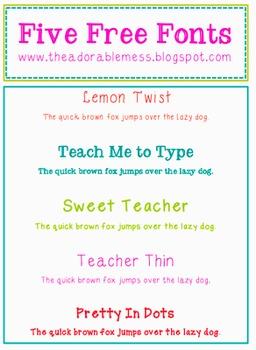 Sweet Teacher Fonts