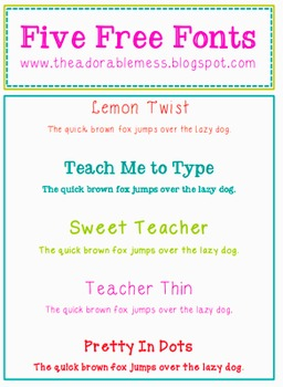 Sweet Teacher Fonts