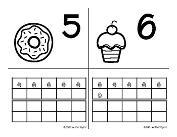 Sweet Ten Frame Centers and Games (Ink Saving Center)
