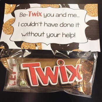 Sweet Thank You's for Parents and Volunteers
