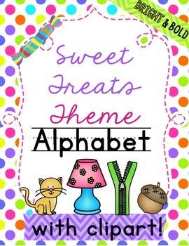 Candy Alphabet Sweet Theme