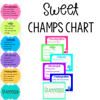 Sweet Theme CHAMPs Posters {cupcakes, ice cream, candy}