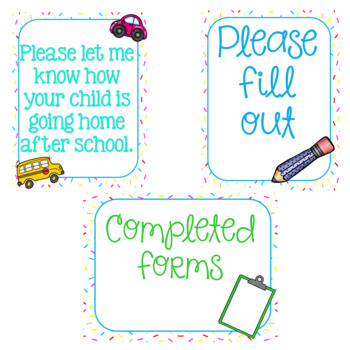 Sweet Themed Meet the Teacher/ Open House Signs {cupcakes and candy}
