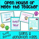 Sweet Themed Meet the Teacher/ Open House Signs {cupcakes