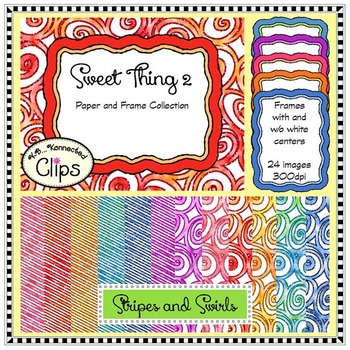 Sweet Thing 2 - Background Papers and Frames