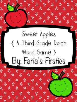 Sweet Third Grade Dolch Apples { A Third Grade Dolch Word Game }