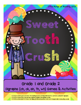 Sweet Tooth Crush (ch, ck, sh, th, wh) Digraphs