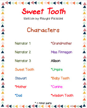 Readers' Theater Script Sweet Tooth by Margie Palatini