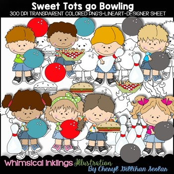 Sweet Tots go Bowling Clipart Collection