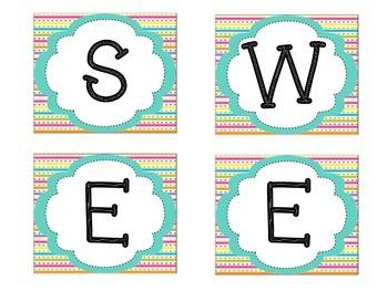 Bulletin Board Set: Sweet Treat Work