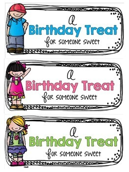 Sweet Treat Birthday Treat Tags