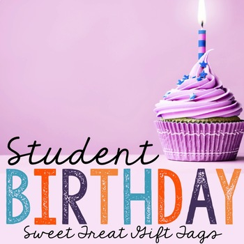 Sweet Treat Birthday Treat Tags