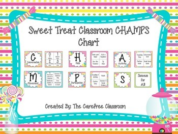 CHAMPS Behavioral Chart: Sweet Treat Theme
