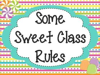 Class Rules: Sweet Treat Theme