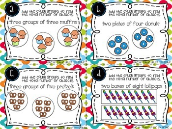 Sweet Treat Equal Group Task Cards: Repeated Addition Practice