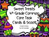 Sweet Treat Halloween Numbers and Operations Task Cards with QR Code- 4th Grade