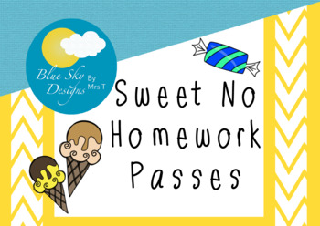 Sweet Treat Homework Passes