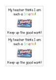 Smarties and M&M's Sweet Treat Incentive, Reward or Award