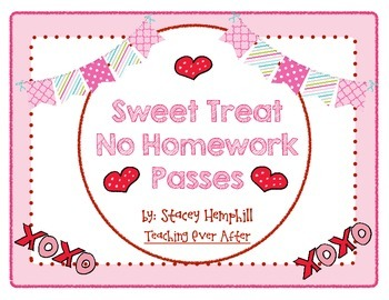 Sweet Treat No Homework Pass