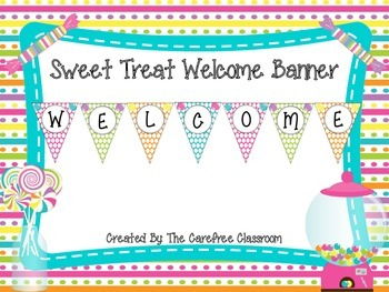 Welcome Pennant: Sweet Treat Theme