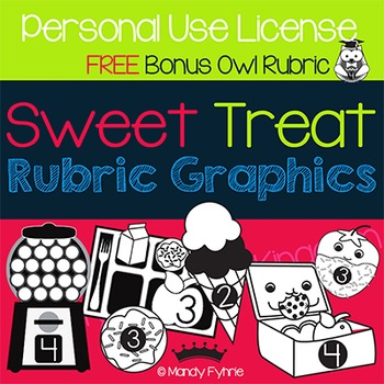Sweet Treat Rubric Graphics - Personal Use