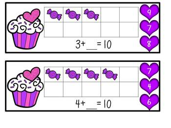 Sweet Treat Sums of 5 and 10 Clip Cards