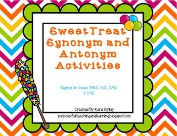Sweet Treat Synonyms and Antonyms (TEKS 1.6D, 2.5C & 3.4C)