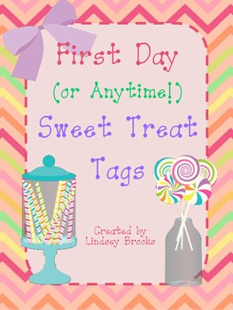 Beginning of the Year Sweet Treat Tags for Pre-K to 5th Grade