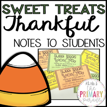 Sweet Treat Thankful Notes