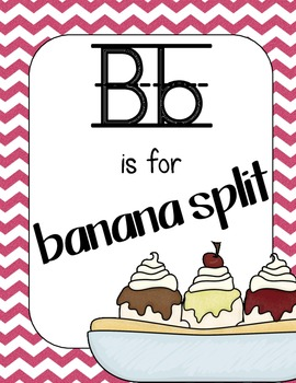 Sweet Treat Themed Alphabet Cards
