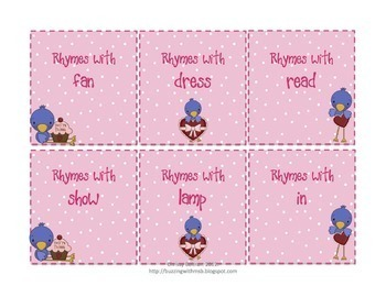 Valentine's Day Word Work Centers: Rhyming, Syllables, and Parts of Speech