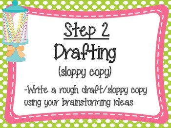Writing Process Posters: Sweet Treat Theme