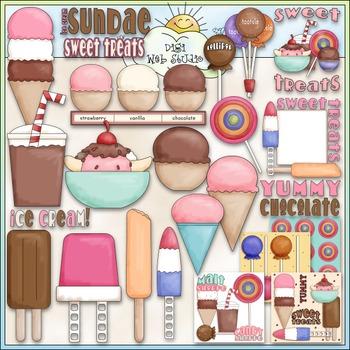 Sweet Treats Clip Art - Ice Cream Clip Art - Dessert - CU