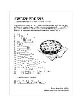 Sweet Treats Vocabulary Puzzle
