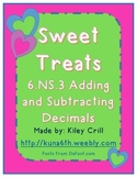 Sweet Treats - Adding and Subtracting Decimals