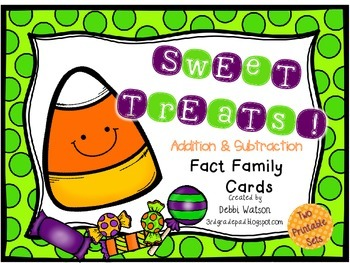 Sweet Treats Addition & Subtraction Fact Family Cards