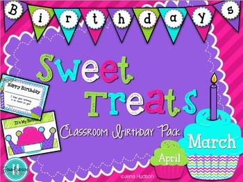 Sweet Treats: Classroom birthday pack