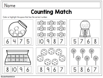 Sweet Treats Clip Cards for Counting and Addition