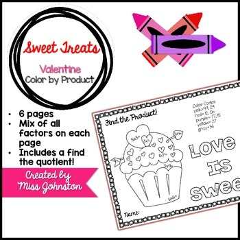 Sweet Treats Color by Product {Valentine's Day}
