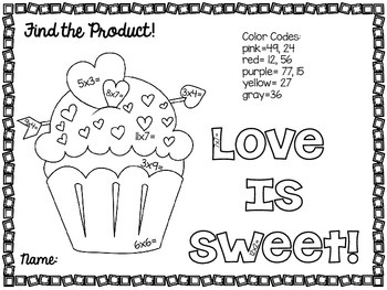 Sweet Treats Color by Product {Valentine's FREEBIE}