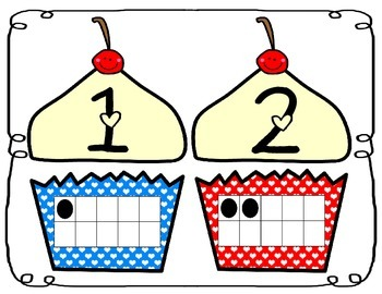 Sweet Treats Cupcake Ten Frame Number Match (Common Core Aligned)
