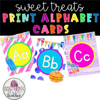 Sweet Treats Decor Print Alphabet Without Lines