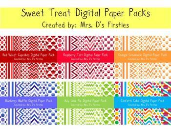 Sweet Treats Digital Paper Bundle